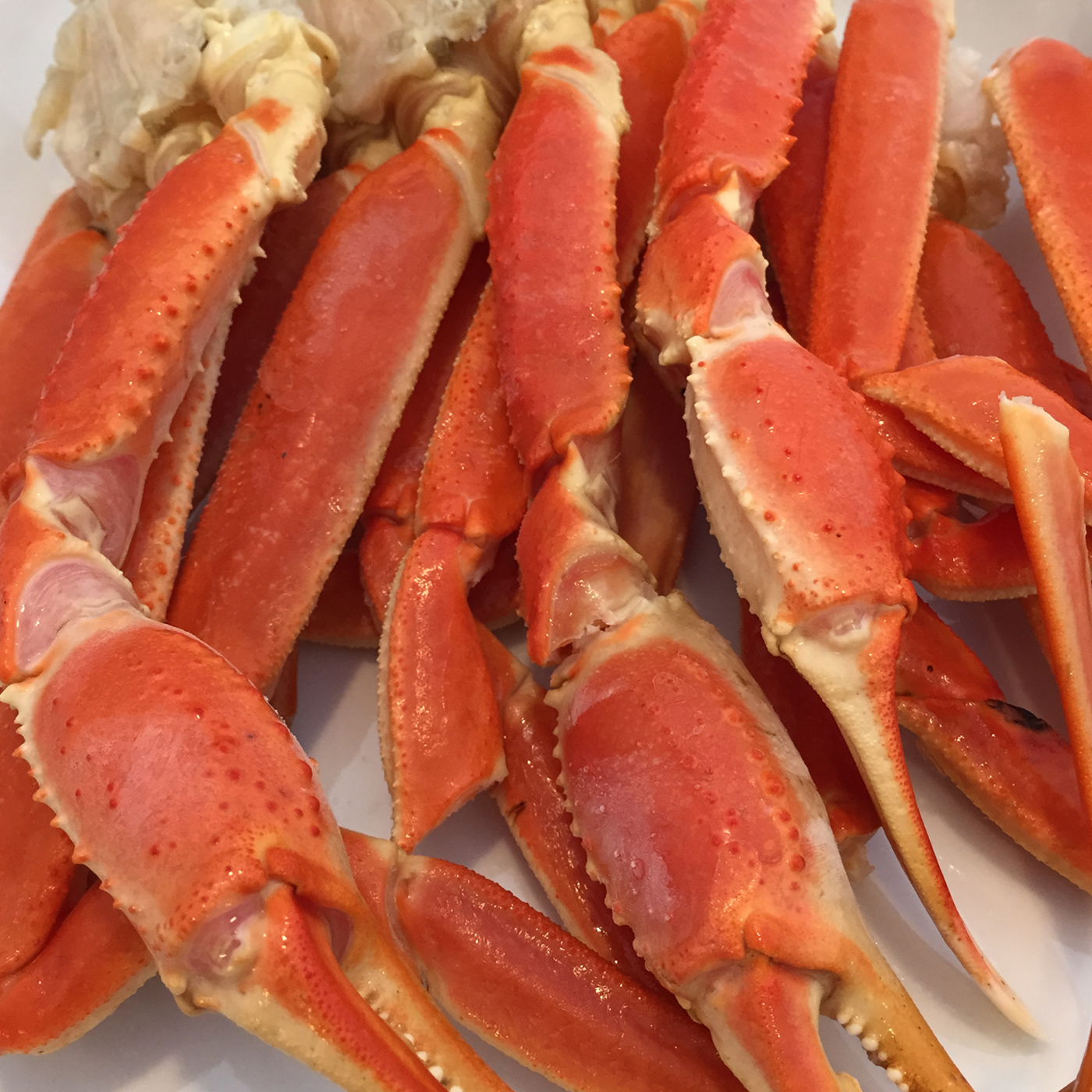 snow crab legs and claws