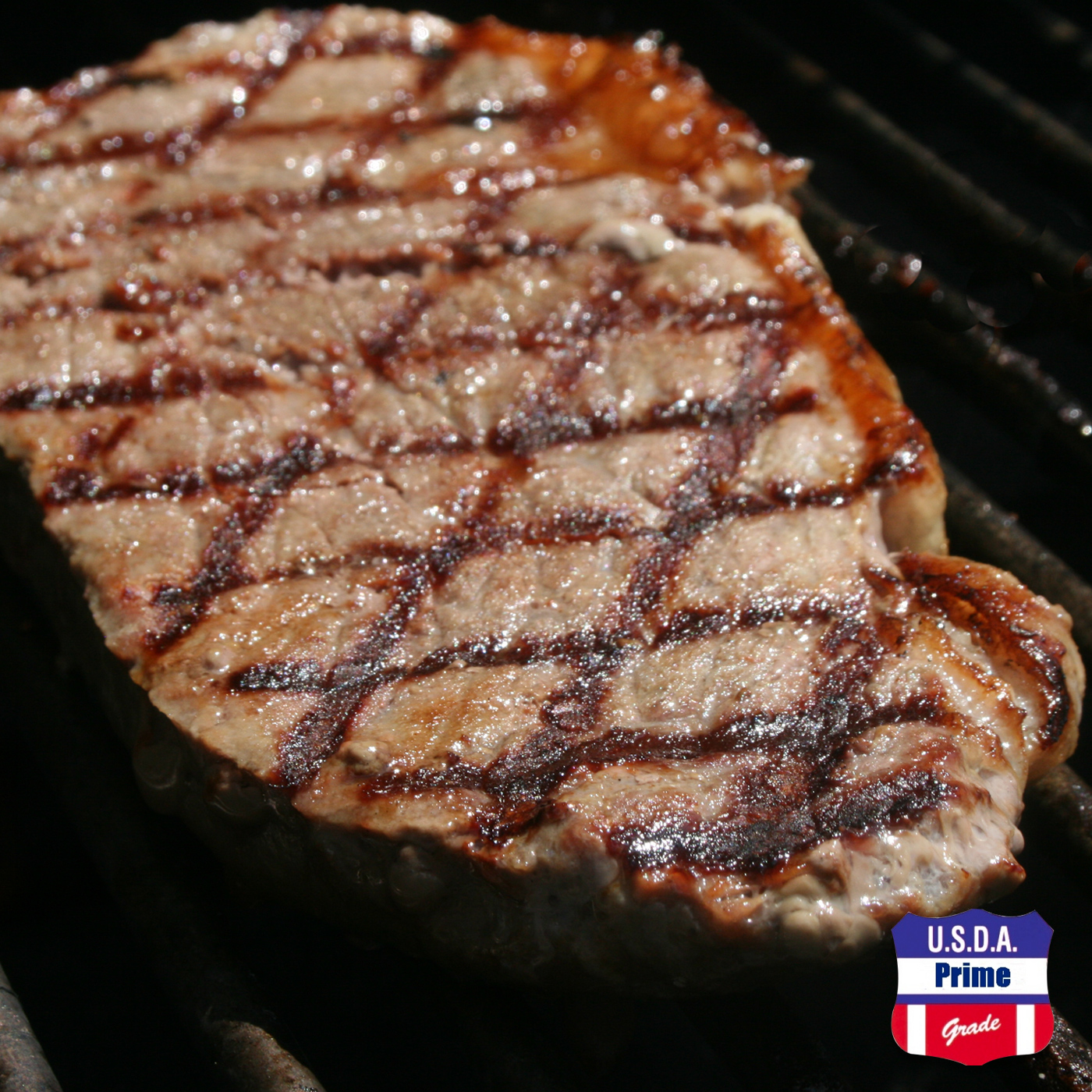 USDA Prime Delmonico steak on the grill